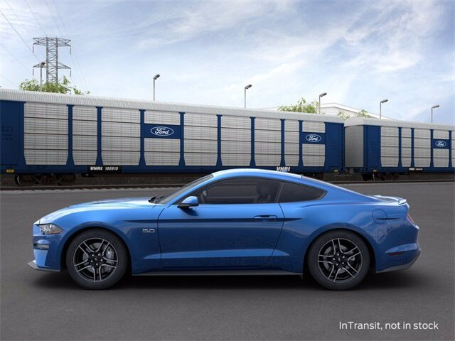 2020 Velocity Blue Metallic Ford Mustang GT Coupe 5.0 L 8-Cylinder Engine Automatic