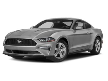 2019 Ingot Silver Metallic Ford Mustang EcoBoost 2 Door 2.3L 4-Cyl Engine RWD Automatic Car