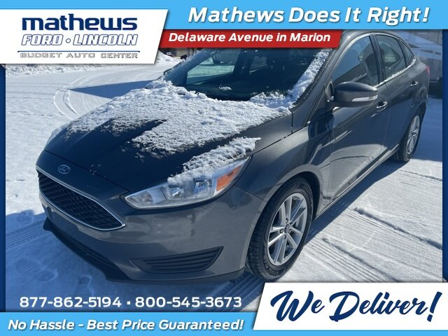 2017 Ford Focus SE 4 Door 2.0L I4 GDI Ti-VCT Flex Fuel Engine FWD Automatic