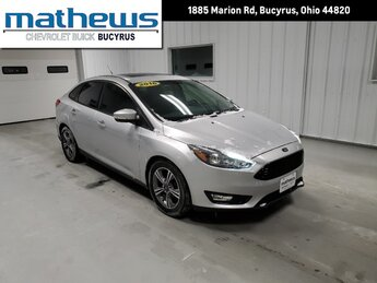 2016 Ingot Silver Ford Focus SE 1.0L Ecoboost Sfe Engine 4 Door Car FWD Automatic