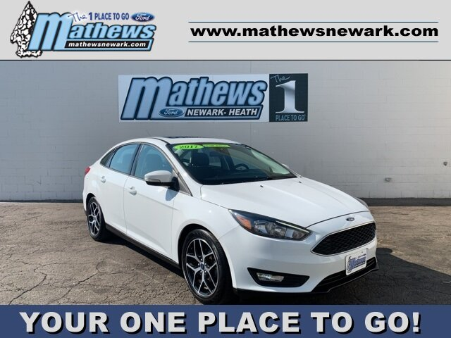2017 White Ford Focus SEL Sedan Automatic 2.0 L 4-Cylinder Engine