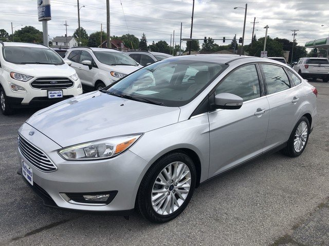 2018 Ingot Silver Metallic Ford Focus Titanium 2.0L 4-Cyl Engine Automatic Sedan