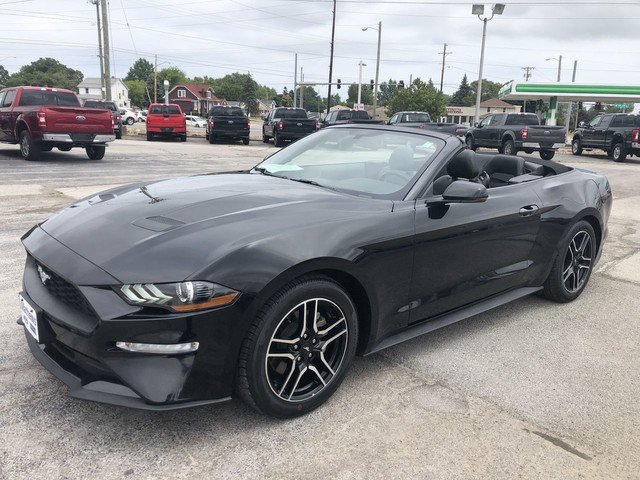 2018 Shadow Black Ford Mustang EcoBoost 2 Door Convertible Automatic RWD 2.3L Ecoboost Engine