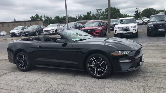 2018 Shadow Black Ford Mustang EcoBoost 2.3L Ecoboost Engine Automatic 2 Door RWD Convertible