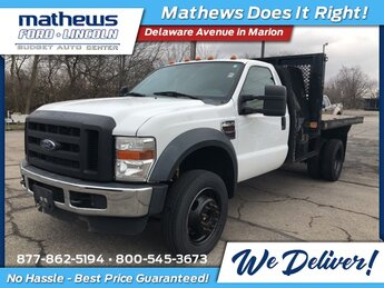 2010 Oxford White Ford Super Duty F-450 DRW XL 4X4 Truck Automatic Power Stroke 6.4L V8 DI 32V OHV Twin Turbo Diesel Engine 2 Door