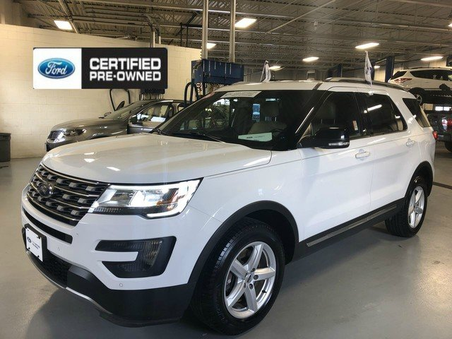 2016 Oxford White Ford Explorer XLT 2.3L 4-Cyl Engine SUV 4 Door Automatic