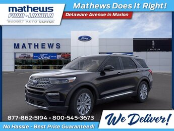 2021 Agate Black Metallic Ford Explorer Limited 4X4 Automatic 4 Door