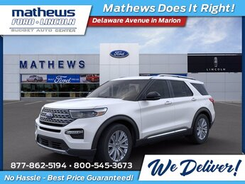2021 White Ford Explorer Limited SUV 4X4 Automatic