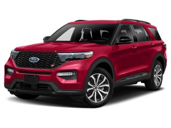 2020 Rapid Red Metallic Tinted Clearcoat Ford Explorer ST 4X4 SUV 3.0L V6 Engine 4 Door