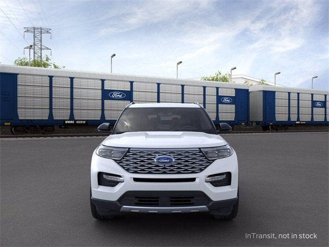 2020 Star White Metallic Tri-Coat Ford Explorer Platinum AWD Automatic 4 Door