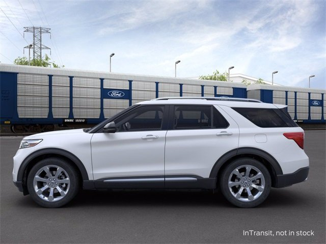 2020 Star White Metallic Tri-Coat Ford Explorer Platinum Automatic AWD 4 Door SUV