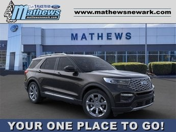 2020 Agate Black Metallic Ford Explorer Platinum Automatic 4X4 3.0L 6-Cylinder Engine