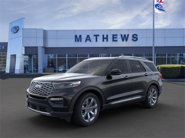 2020 Agate Black Metallic Ford Explorer Platinum 4 Door 4X4 3.0L 6-Cylinder Engine SUV