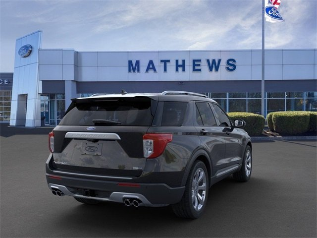 2020 Agate Black Metallic Ford Explorer Platinum 4X4 Automatic 3.0L 6-Cylinder Engine 4 Door SUV