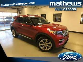 2020 Rapid Red Metallic Tinted Clearcoat Ford Explorer Platinum SUV 4X4 4 Door 3.0 L 6-Cylinder Engine