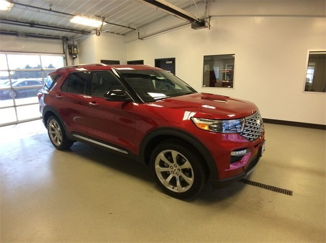 2020 Rapid Red Metallic Tinted Clearcoat Ford Explorer Platinum 4X4 3.0L V6 Engine SUV 4 Door Automatic