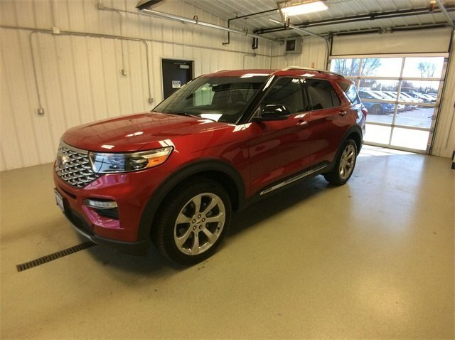 2020 Rapid Red Metallic Tinted Clearcoat Ford Explorer Platinum SUV 3.0L V6 Engine 4X4