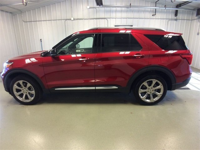 2020 Rapid Red Metallic Tinted Clearcoat Ford Explorer Platinum 3.0L V6 Engine 4 Door SUV