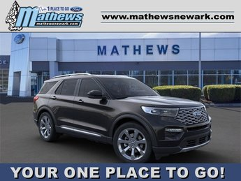 2020 Agate Black Metallic Ford Explorer Platinum SUV 3.0L 6-Cylinder Engine 4X4 4 Door