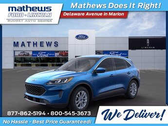 2021 Blue Ford Escape SE 4 Door Automatic FWD SUV 1.5L EcoBoost Engine