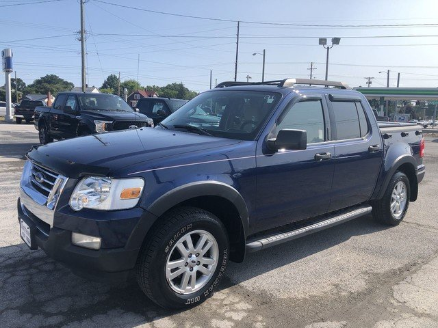 2008 Dark Blue Pearl Metallic Ford Explorer Sport Trac XLT 4X4 Truck 4.0L SOHC 12-Valve V6 Engine 4 Door