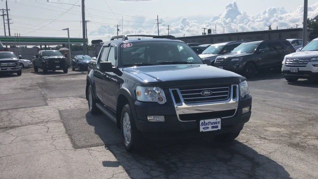 2008 Dark Blue Pearl Metallic Ford Explorer Sport Trac XLT 4.0L SOHC 12-Valve V6 Engine 4X4 Truck 4 Door Automatic