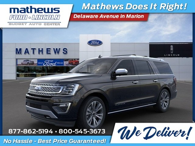 2020 Agate Black Ford Expedition Max Platinum EcoBoost 3.5L V6 GTDi DOHC 24V Twin Turbocharged Engine SUV 4 Door