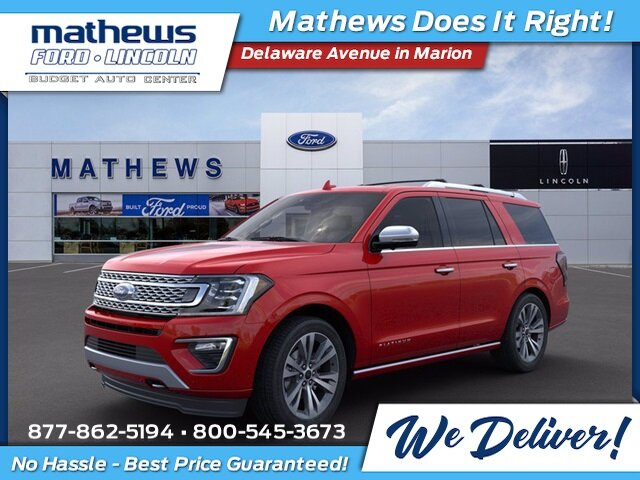 2020 Rapid Red Metallic Tinted Clearcoat Ford Expedition Platinum 4 Door EcoBoost 3.5L V6 GTDi DOHC 24V Twin Turbocharged Engine Automatic 4X4