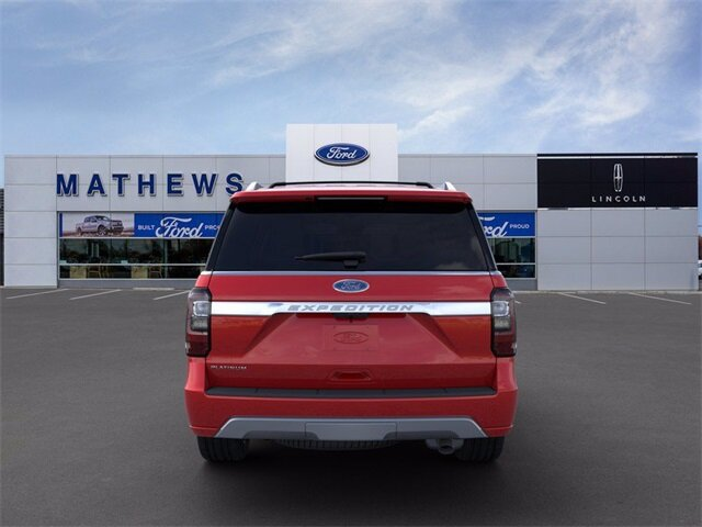 2020 Rapid Red Metallic Tinted Clearcoat Ford Expedition Platinum SUV Automatic EcoBoost 3.5L V6 GTDi DOHC 24V Twin Turbocharged Engine 4X4