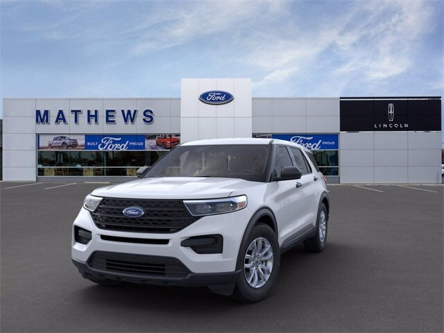 2021 Oxford White Ford Explorer Base 4X4 EcoBoost 2.3L I4 GTDi DOHC Turbocharged VCT Engine Automatic