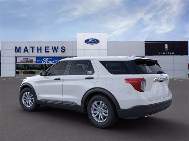 2021 Oxford White Ford Explorer Base 4X4 Automatic EcoBoost 2.3L I4 GTDi DOHC Turbocharged VCT Engine