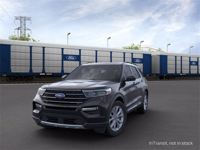 2020 Agate Black Metallic Ford Explorer XLT 2.3 L 4-Cylinder Engine AWD Automatic SUV
