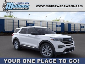 2020 Oxford White Ford Explorer XLT Automatic SUV 4 Door 2.3 L 4-Cylinder Engine AWD