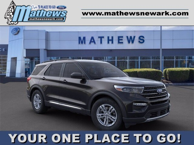 2020 AGATE_BLACK Ford Explorer XLT AWD SUV 4 Door 2.3 L 4-Cylinder Engine Automatic