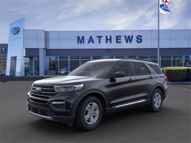 2020 AGATE_BLACK Ford Explorer XLT Automatic AWD 4 Door 2.3 L 4-Cylinder Engine SUV
