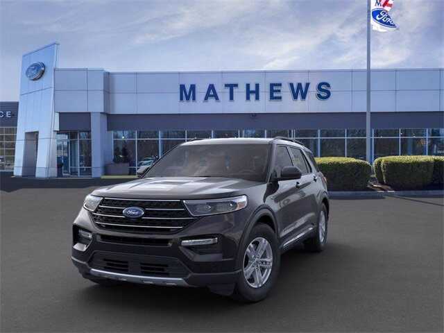 2020 AGATE_BLACK Ford Explorer XLT 4 Door AWD Automatic 2.3 L 4-Cylinder Engine