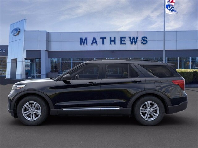 2020 AGATE_BLACK Ford Explorer XLT Automatic AWD 2.3 L 4-Cylinder Engine