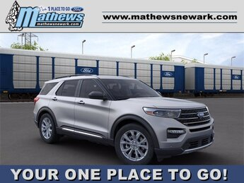 2020 Iconic Silver Metallic Ford Explorer XLT SUV Automatic AWD 2.3 L 4-Cylinder Engine 4 Door