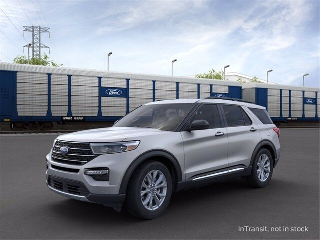 2020 Iconic Silver Metallic Ford Explorer XLT 2.3 L 4-Cylinder Engine SUV Automatic 4 Door AWD