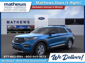 2021 Blue Ford Explorer XLT Automatic EcoBoost 2.3L I4 GTDi DOHC Turbocharged VCT Engine 4X4 SUV 4 Door