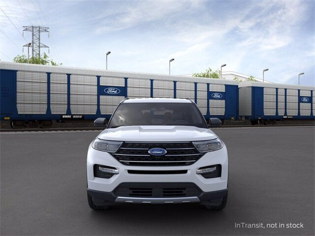 2020 Oxford White Ford Explorer XLT Automatic AWD SUV 2.3 L 4-Cylinder Engine