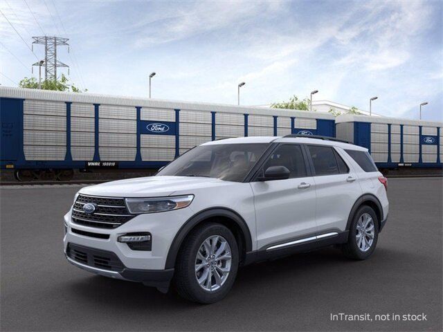2020 Oxford White Ford Explorer XLT AWD 4 Door 2.3 L 4-Cylinder Engine Automatic SUV