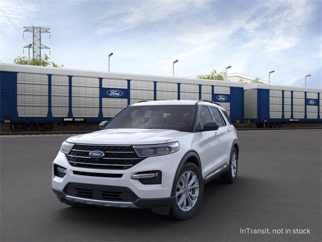 2020 Oxford White Ford Explorer XLT Automatic 4 Door SUV