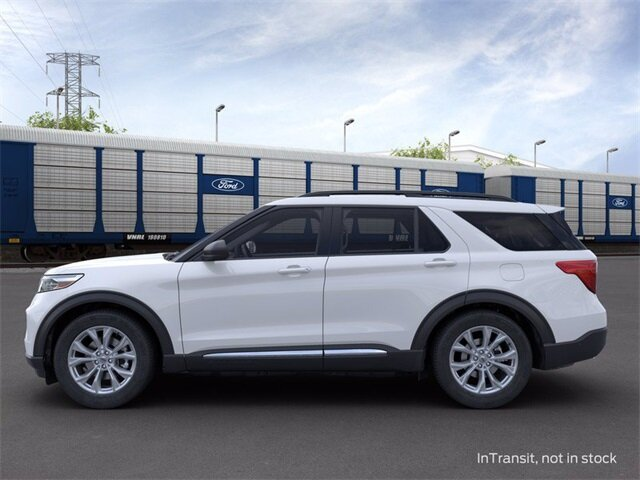 2020 Oxford White Ford Explorer XLT 4 Door Automatic 2.3 L 4-Cylinder Engine AWD