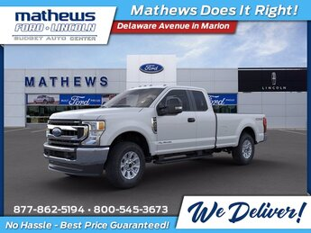 2021 Oxford White Ford Super Duty F-350 SRW XL Power Stroke 6.7L V8 DI 32V OHV Turbodiesel Engine Automatic Truck 4X4
