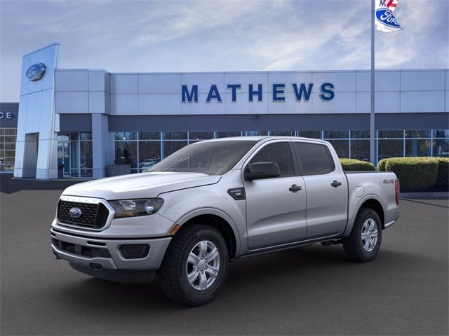 2020 Iconic Silver Metallic Ford Ranger 4WD SuperCrew 5' Box Automatic 4 Door 4X4 2.3 L 4-Cylinder Engine
