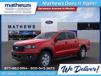 2021 Red Ford Ranger XL 4X4 EcoBoost 2.3L I4 GTDi DOHC Turbocharged VCT Engine 4 Door