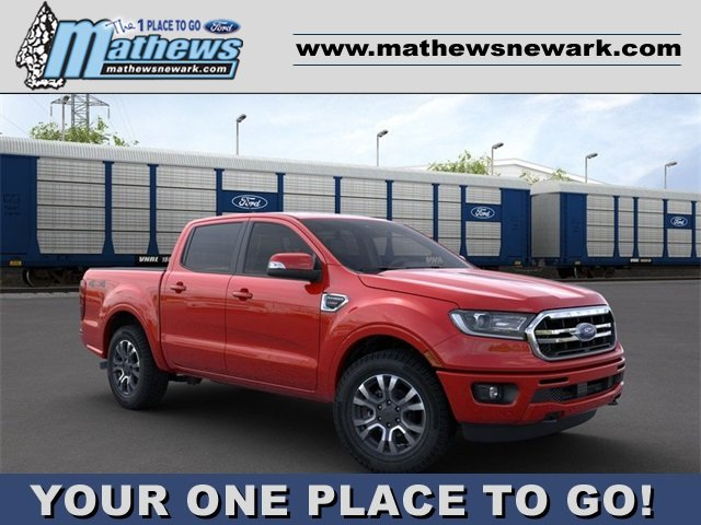 2020 Race Red Ford Ranger 4WD SuperCrew 5' Box Truck Automatic 4 Door 2.3 L 4-Cylinder Engine 4X4