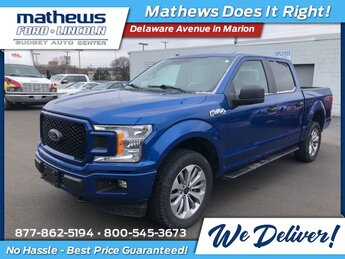 2018 Lightning Blue Ford F-150 XL 4X4 4 Door 5.0L V8 Engine Automatic