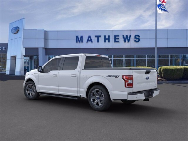2020 White Ford F-150 LARIAT Automatic 2.7 L 6-Cylinder Engine 4X4 Truck 4 Door